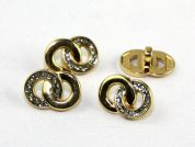 Dill Wedding Ring Buttons  Gold & Silver