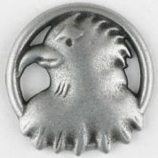 Dill Eagle Eye Buttons  Silver