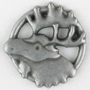 Dill Moose Rack Buttons  Silver