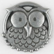 Dill Hoot Owl Buttons  Silver