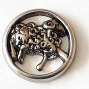 Dill Metal Sheep Shank Buttons  Silver