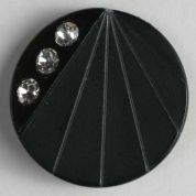 Dill Round Diamante Buttons