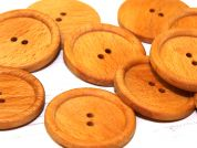 Dill Round Shaped 2 Hole Wooden Buttons  Tan