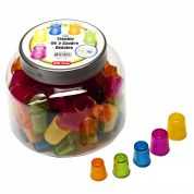 Lightweight Plastic Thimbles  Assorted Colours