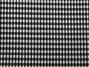 Dogtooth Check Suiting Dress Fabric  Black & White
