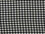 Medium Dogtooth Check Suiting Dress Fabric  Black & White