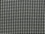 Small Dogtooth Check Suiting Dress Fabric  Black & White