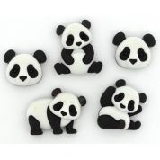 Dress It Up Panda Pile Buttons