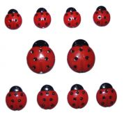 Dress It Up Shaped Novelty Buttons Lady Bugs