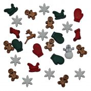 Dress It Up Shaped Novelty Buttons Christmas Miniatures