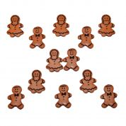 Dress It Up Shaped Novelty Buttons Christmas Gingerbread People