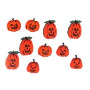 Dress It Up Shaped Novelty Buttons Jack OLanterns Halloween