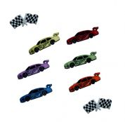 Dress It Up Shaped Novelty Buttons Start your Engines