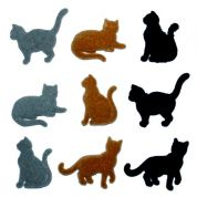 Dress It Up Shaped Novelty Buttons Country Cats