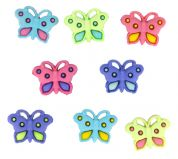 Dress It Up Shaped Novelty Buttons Butterfly