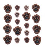 Dress It Up Shaped Novelty Buttons Dog Paws