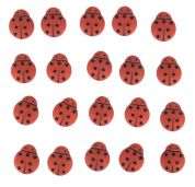 Dress It Up Shaped Novelty Buttons Tiny Lady Bugs