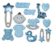 Dress It Up Shaped Novelty Button & Embellishment Packs Baby Boy