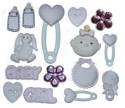 Dress It Up Shaped Novelty Button & Embellishment Packs Baby Girl