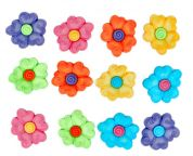 Dress It Up Swirl Flowers Buttons