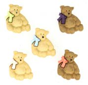 Dress It Up Shaped Novelty Buttons Bears