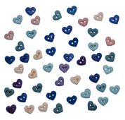 Dress It Up Shaped Novelty Buttons Hearts Romance Minis