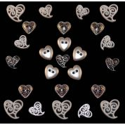 Dress It Up Shaped Novelty Buttons Perfect Union Hearts