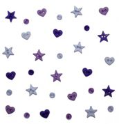 Dress It Up Shaped Novelty Buttons Purple Minis