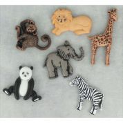 Dress It Up Shaped Novelty Buttons Wild Thing
