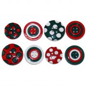 Dress It Up Shaped Novelty Buttons Colours of Christmas