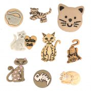 Dress It Up Shaped Novelty Buttons Feline Fancy