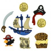 Dress It Up Pirates Buttons