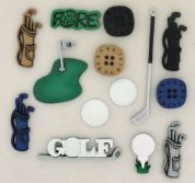 Dress It Up Shaped Novelty Buttons Golf
