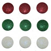 Dress It Up Shaped Novelty Button & Embellishment Packs Glitter Dots