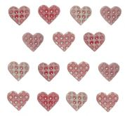 Dress It Up Shaped Novelty Buttons Baby Girl Hearts