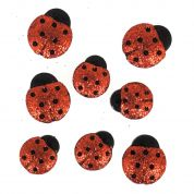 Dress It Up Glitter Ladybirds Buttons