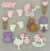 Dress It Up Shaped Novelty Buttons New Arrival Girl