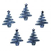 Dress It Up Shaped Novelty Buttons Christmas Glitter Trees