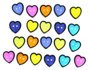 Dress It Up Shaped Novelty Buttons Small Hearts