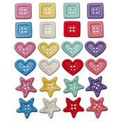 Dress It Up Shaped Novelty Buttons Chunky Shapes