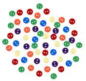 Dress It Up Shaped Novelty Buttons Round Primary Minis