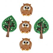 Dress It Up Shaped Novelty Buttons Night Owls