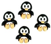 Dress It Up Shaped Novelty Buttons Playful Penguins