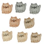 Dress It Up Shaped Novelty Buttons Fat Cats