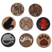 Dress It Up Shaped Novelty Buttons Raining Cats & Dogs