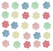Dress It Up Shaped Novelty Buttons Cheerful Bouquet