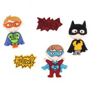 Dress It Up Be My Super Hero Buttons
