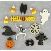 Dress It Up Shaped Novelty Buttons Spooktacular Halloween