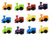 Dress It Up Shaped Novelty Embellishment Packs Trains