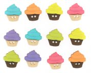 Dress It Up Shaped Novelty Buttons Cupcakes